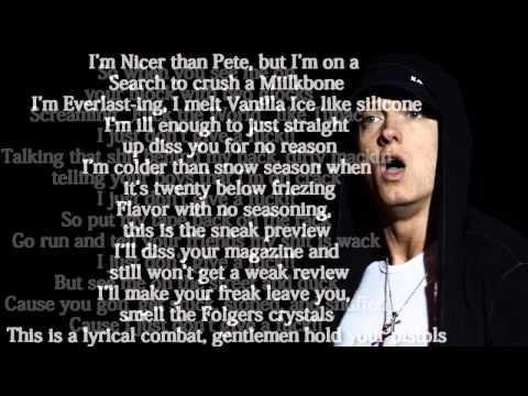 Eminem - Just Don't Give A Fuck Lyrics