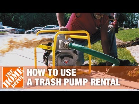 How to Use a Trash Pump | The Home Depot Rental