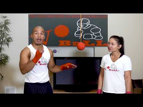 Vo Ball Boxing and Fitness DVD--how to properly throw a right hook #voball
