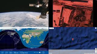 Passing By African Coastlines - NASA/ESA ISS LIVE Space Station With Map - 27 - 2018-07-16