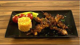 Turkish chicken skewers