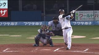 【プロ野球パ】清田、岸の直球はねかえし同点タイムリー! 2015/07/28 M-L