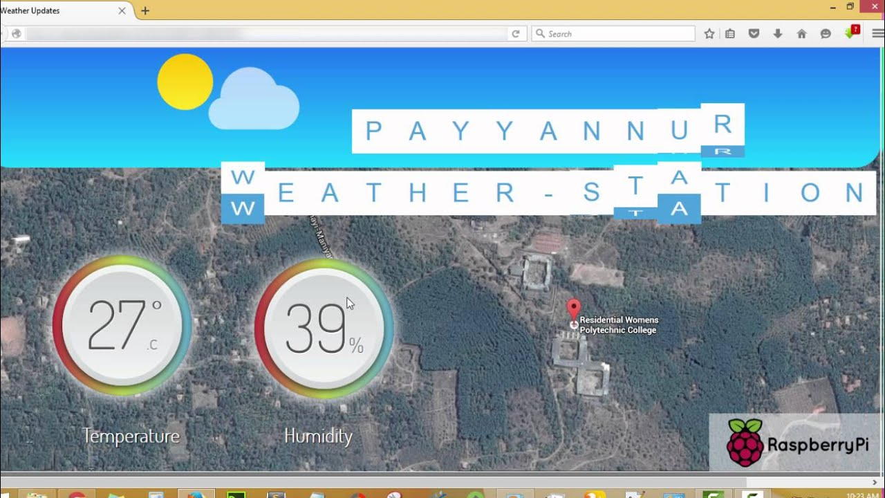 Web Interface for Raspberry Pi Weather Station