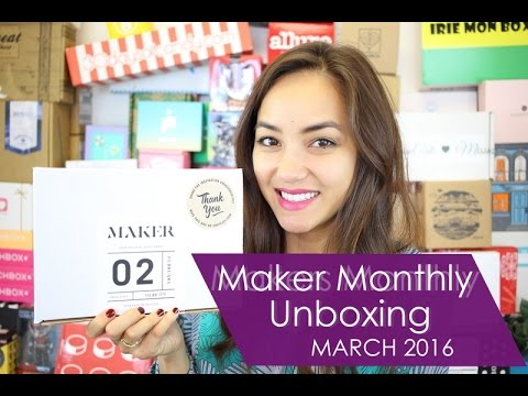 Maker Monthly Unboxing + COUPON! - March 2016 Review