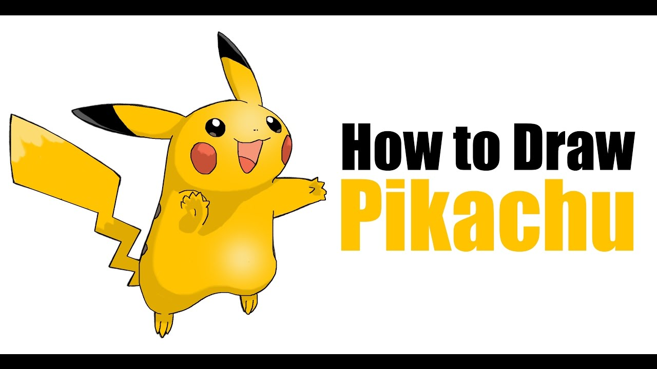 How to draw pikachu from pokémon step by step