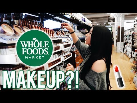WHOLE FOODS MAKEUP & BEAUTY Shop With Me! First impressions & Wear Test...