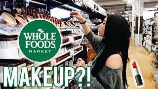 WHOLE FOODS MAKEUP & BEAUTY Shop With Me! First impressions & Wear Tes