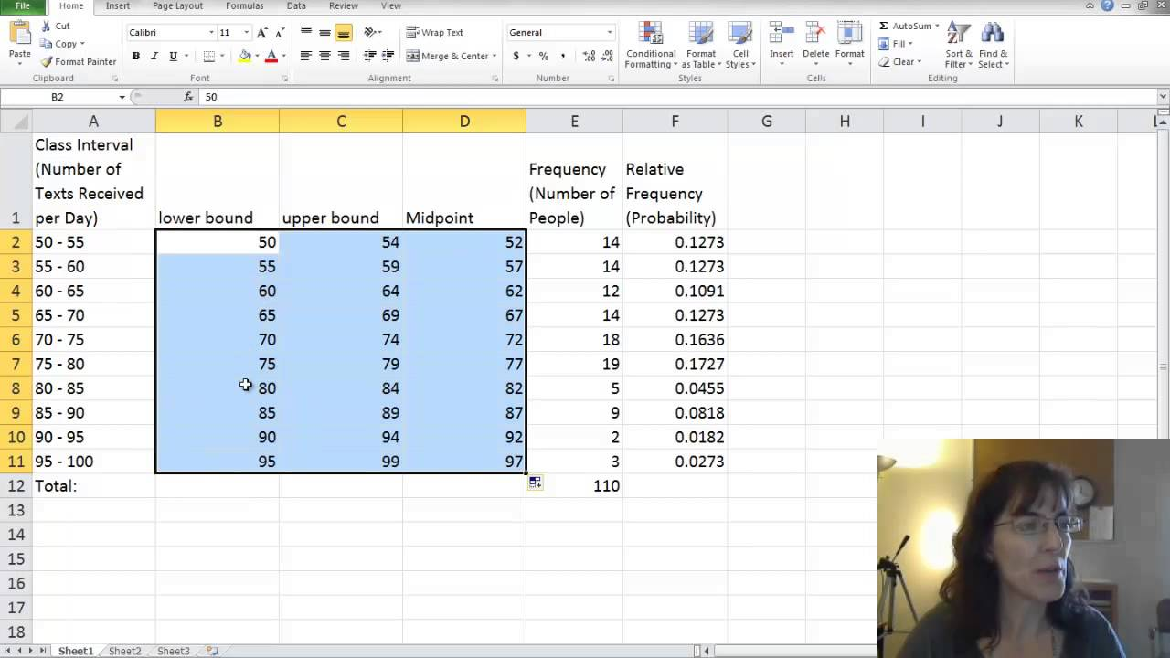 Relative Frequency Histogram In Excel Youtube