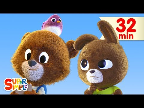 the-bear-went-over-the-mountain-|-+-more-kids-songs-|-super-simple-songs