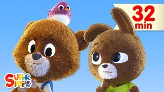 The Bear Went Over The Mountain | + More Kids Songs | Super Simple Songs