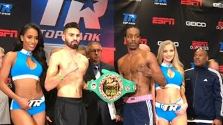 """ITS GONNA BE A RUMBLE IN THE JUNGLE"" RAMIREZ-IMAM WEIGH-INS & FACE OFF"