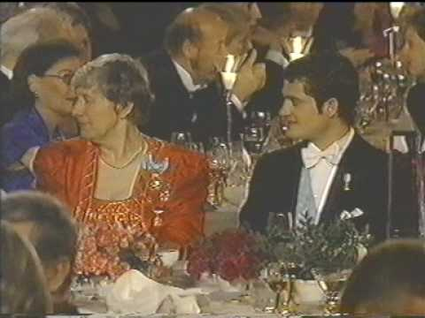 The royal family at the Nobel Prize in 2002
