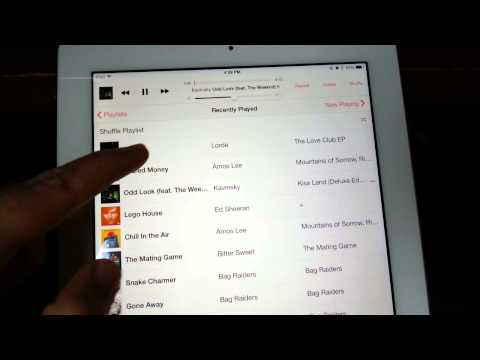 iPad Music Player Problem - iOS 7