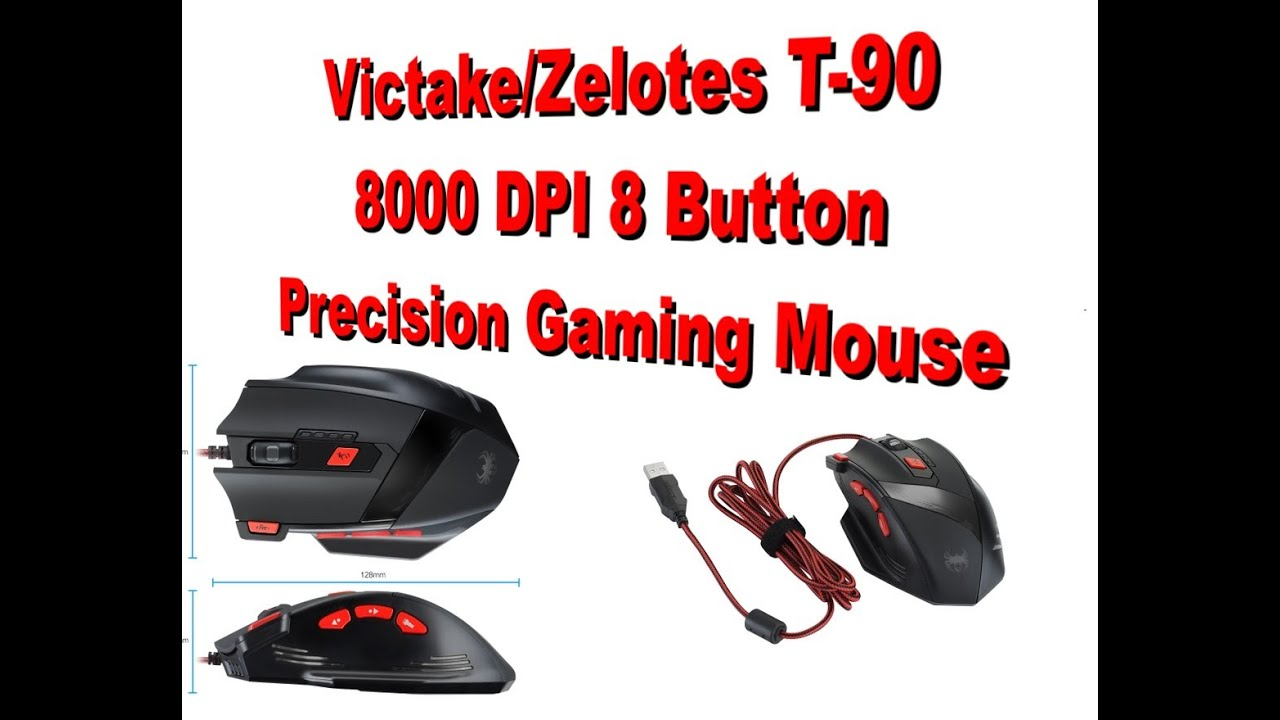 a851db8ffe6 Victake Zelotes T-90 Precision 8000 DPI Gaming Mouse Review - YouTube