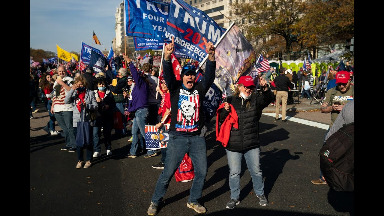 Million MAGA March: Thousands of pro-Trump protesters rally in ...