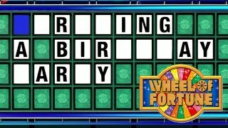 ........ A Birthday Party! | Wheel of Fortune Gameplay w/Zachary