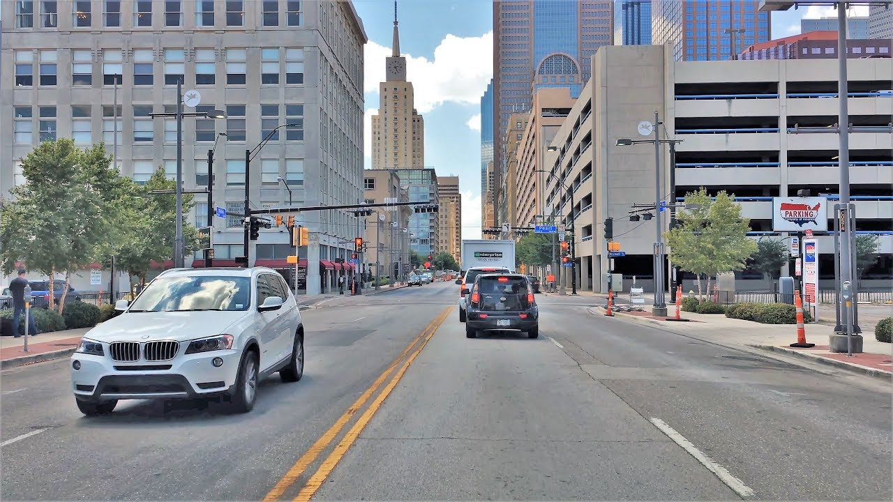 driving downtown dallas 39 main street 4k usa youtube. Black Bedroom Furniture Sets. Home Design Ideas