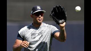 Aaron Hicks' 1st Yankee Stadium workout in 2019