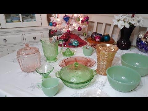 A Depression Glassware, Jadite & A Bit Of Carnival Glass Haul Melbourne, Fl #222