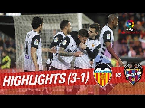 Resumen de Valencia CF vs Levante UD (3-1)