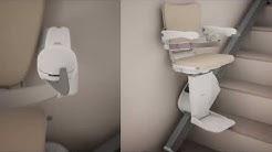Slimmest straight stairlift: Handicare 1100 | Handicare Stairlifts