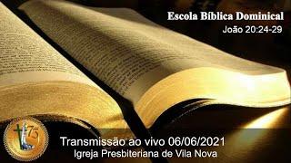 João 20:24-29 - Sem. Rhony Peterson - EBD
