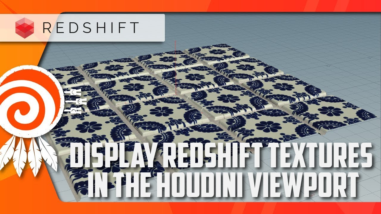 Show REDSHIFT textures in the HOUDINI viewport