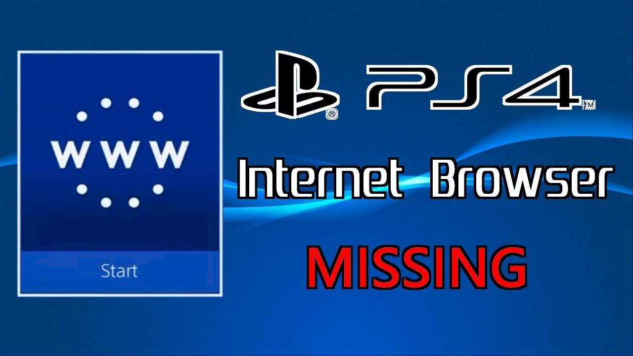 Ps4 Internet Browser Missing Solved Youtube