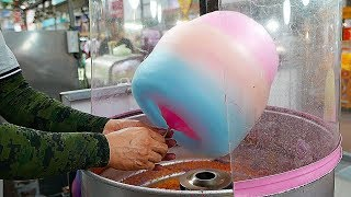 Japanese Street Food - COTTON CANDY ART Chicken, Rabbit, Bear Japan