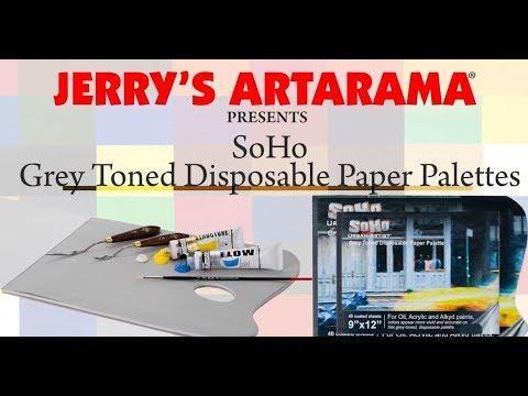 SoHo Grey Tone Disposable Paper Artist Palettes