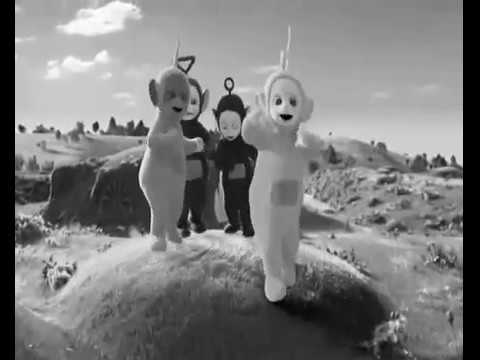 SCARY TELETUBBIES YouTube - Teletubbies in black and white is terrifying