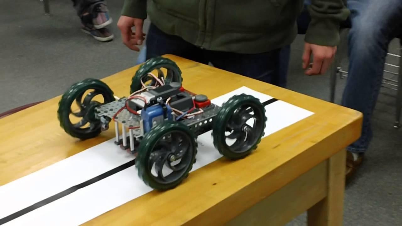 lhs pltw-poe robot line follower  2013