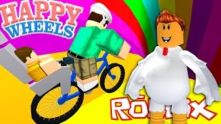 HAPPY WHEELS IN ROBLOX!!! - A BLOOD TYCOON - Spanish Gameplay