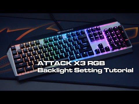 Attack X3 RGB Backlight Setting Tutorial