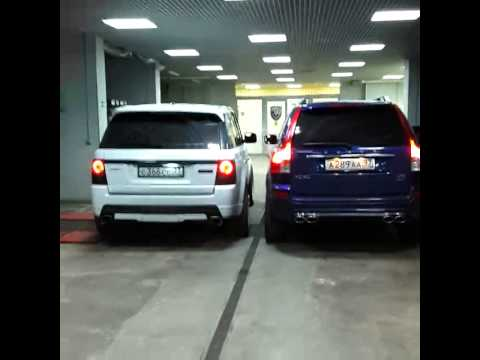 VOLVO XC90 Ocean Race V8 (480hp) vs. Range Rover Sport V8 (620hp) - YouTube