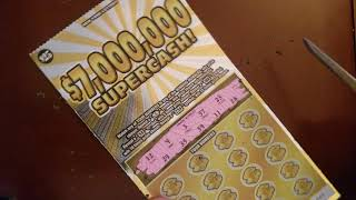 SINGLE HANGER ALERT ON THE NEW NY $25$ 7 MILLION SUPERCASH INSTANT WIN SCRATCH OFF LOTTERY TICKETS