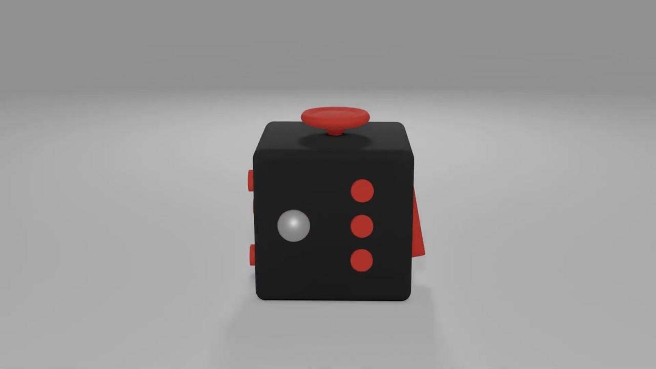 Fidget Cube 3d Model Youtube