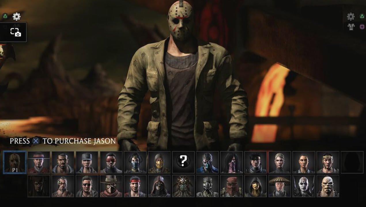 Mortal Kombat X Character Selection Screen With Jason And Dlc
