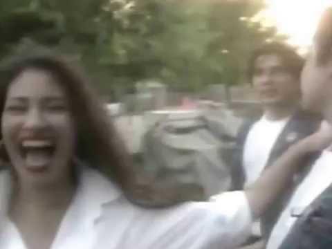 Selena joking with her husband Chris Perez