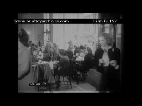 New York Automat Restaurant from 70 years ago.  Archive film 61157