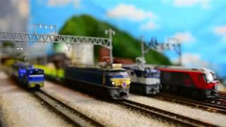 Nゲージ N天 東海道の高速貨物列車! 実車音付き 54レ1055レ5050レ1051レ