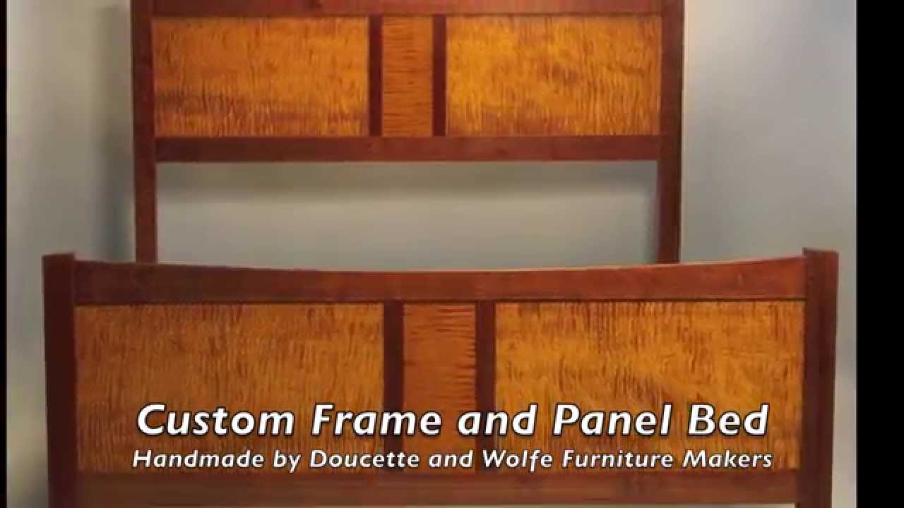 Frame And Panel Bed Custom Made By Doucette And Wolfe Furniture Makers
