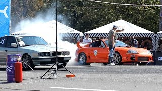 Toyota Supra 700 hp vs BMW E34 3.0 Turbo