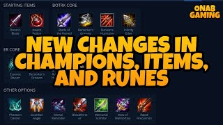 New Changes in Champions,Items, and Runes in League of Legends: Wild Rift   ONAB GAMING