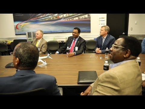 H E Ambassador Kassa Tekleberhan Visited Boeing Manufacturing in Seattle Washington