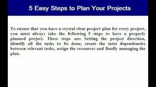 5 Easy Steps To Plan Your Projects