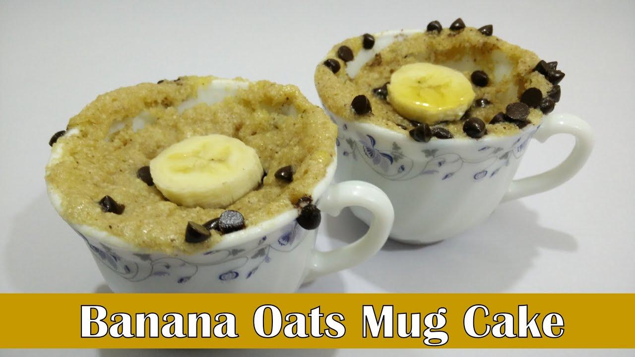 Banana Oats Mug Cake Recipe in Hindi by Cooking with Smita ...