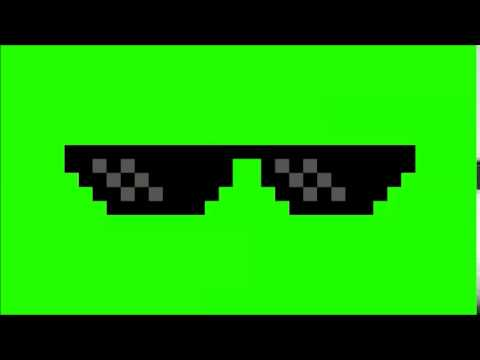 Deal With It Glasses Green Screen