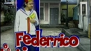 Federrico con Carlos Villagrán , RCTV 1983
