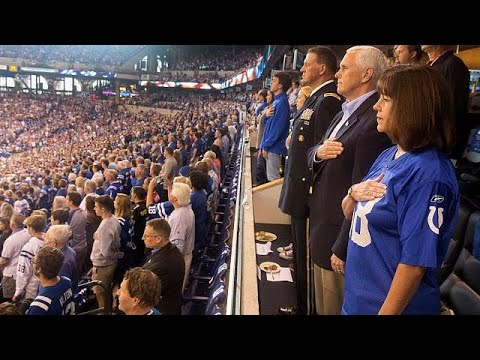 Pence walks out of NFL game after player protest